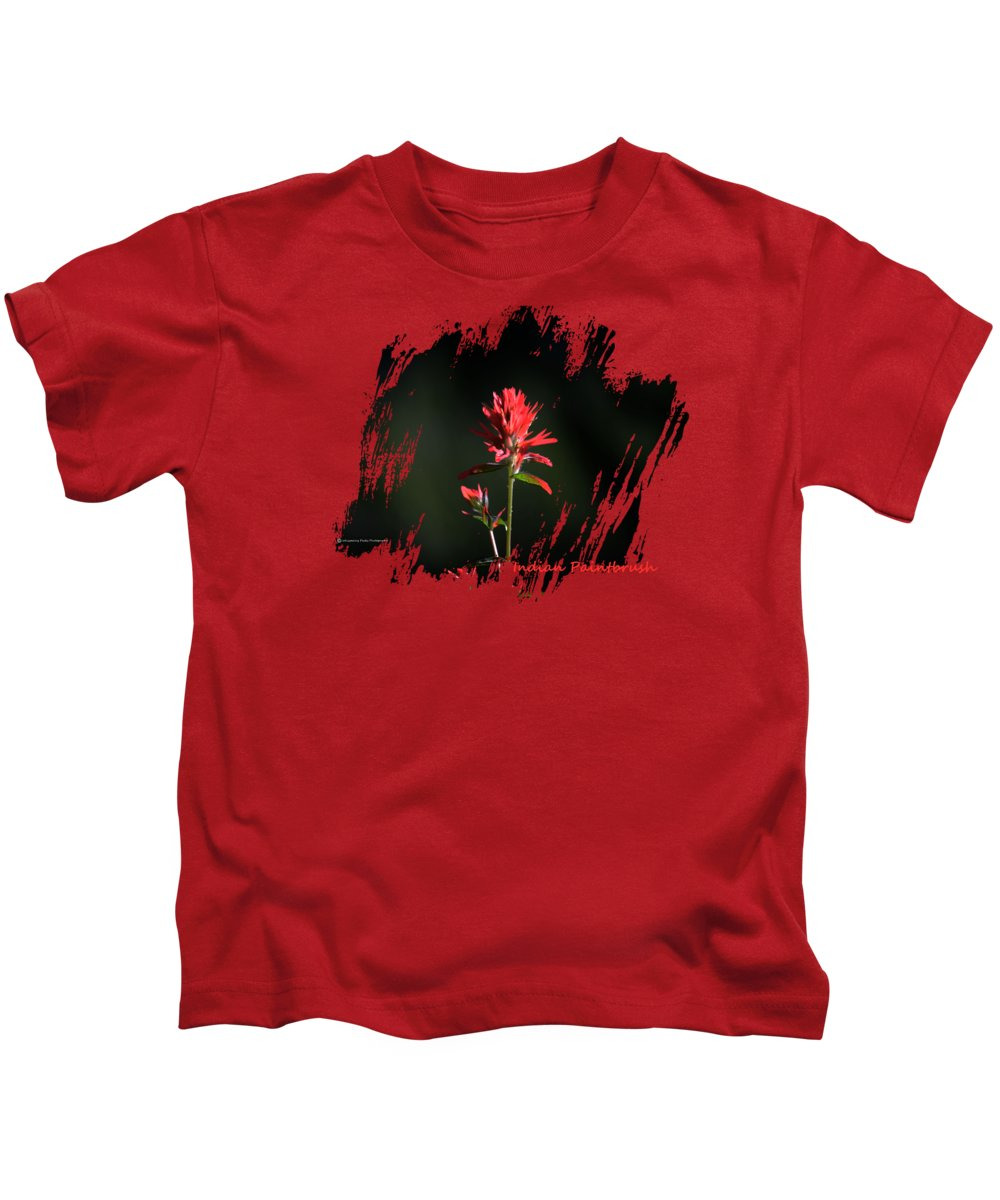 Montana Kids T-Shirt featuring the photograph Indian Paintbrush 4 by Whispering Peaks Photography
