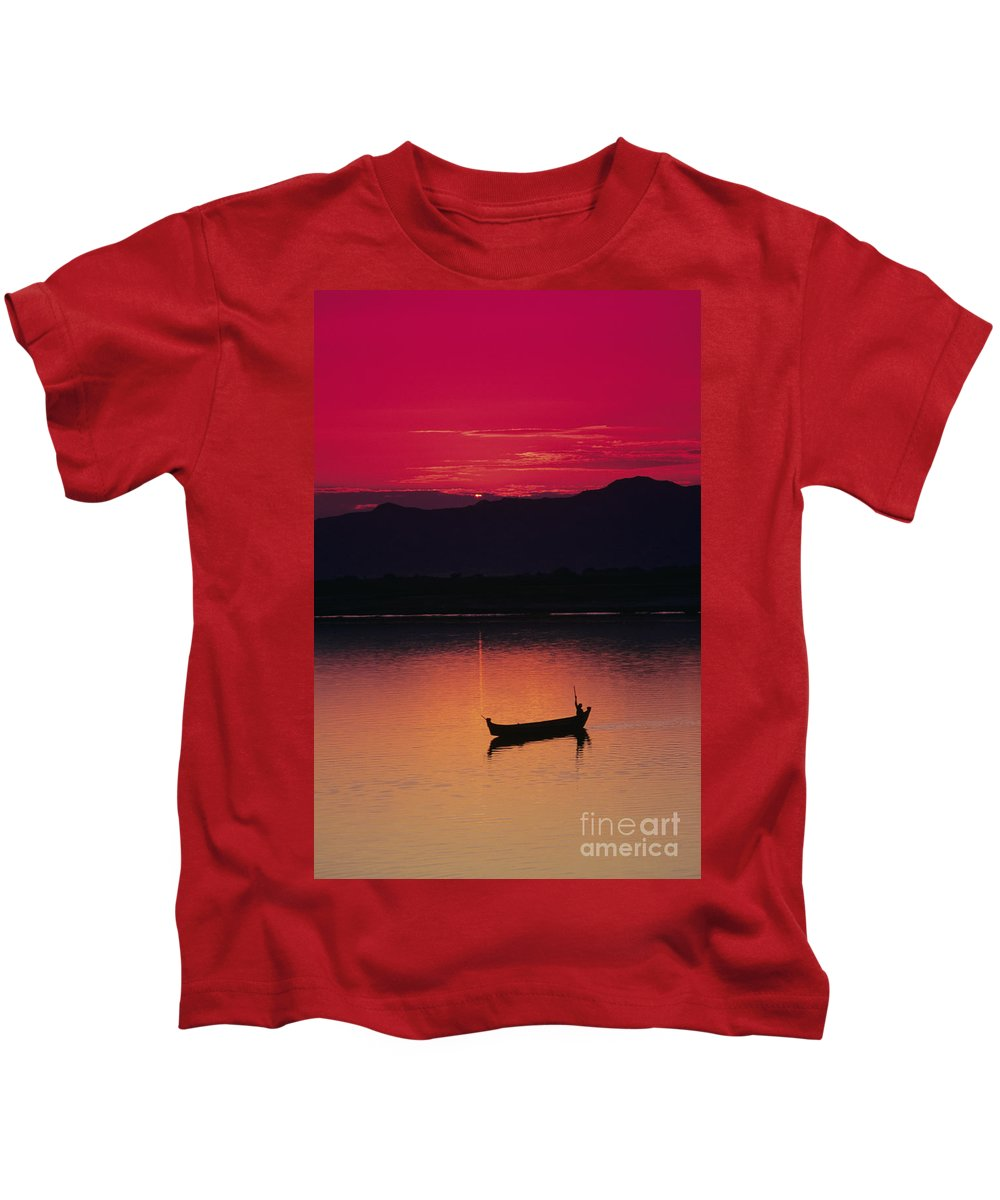 Bagan Kids T-Shirt featuring the photograph Irrawaddy River by Gloria & Richard Maschmeyer - Printscapes