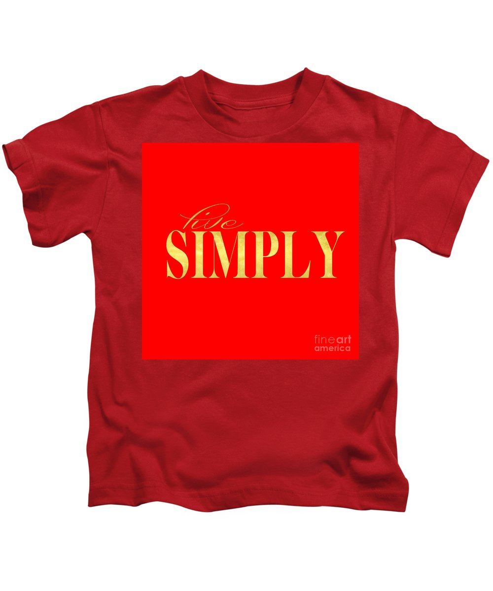 Live Kids T-Shirt featuring the digital art Live Simply by Edit Voros