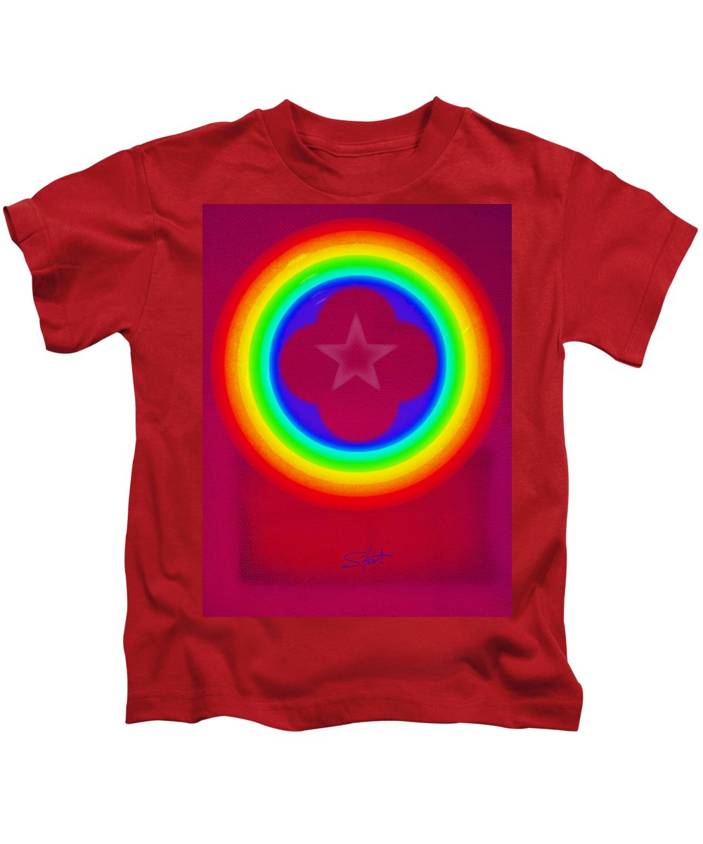 Abstract Kids T-Shirt featuring the painting Logo by Charles Stuart