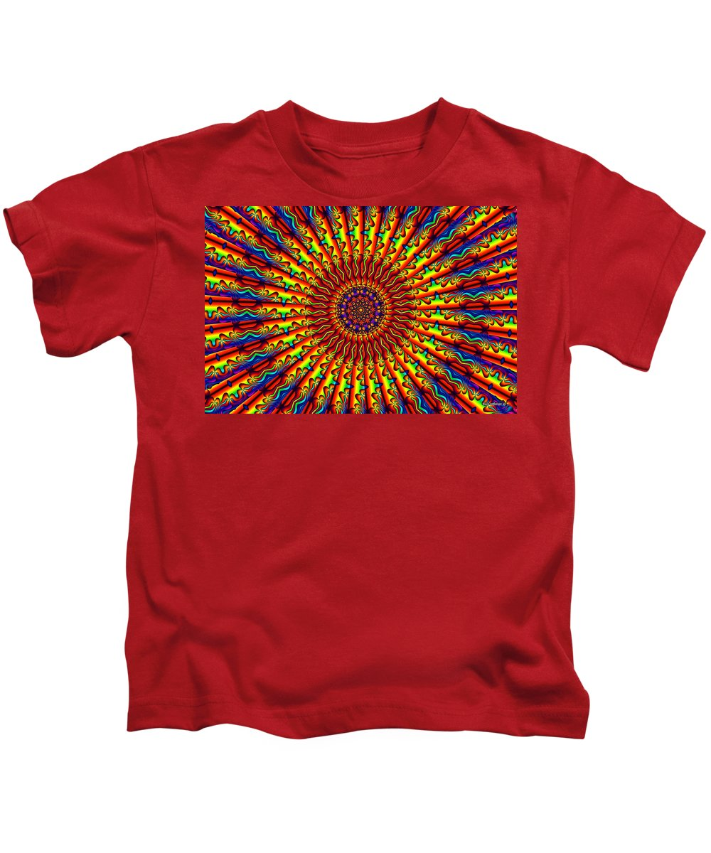 Multicolor Kids T-Shirt featuring the digital art Rainbow River by Robert Orinski