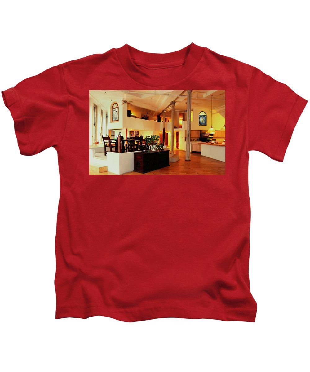 Room Kids T-Shirt featuring the digital art Room by Dorothy Binder