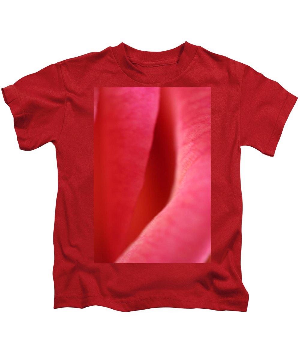 Rose Petal Flower Photography Kids T-Shirt featuring the photograph Rose Petal by Norah Holsten