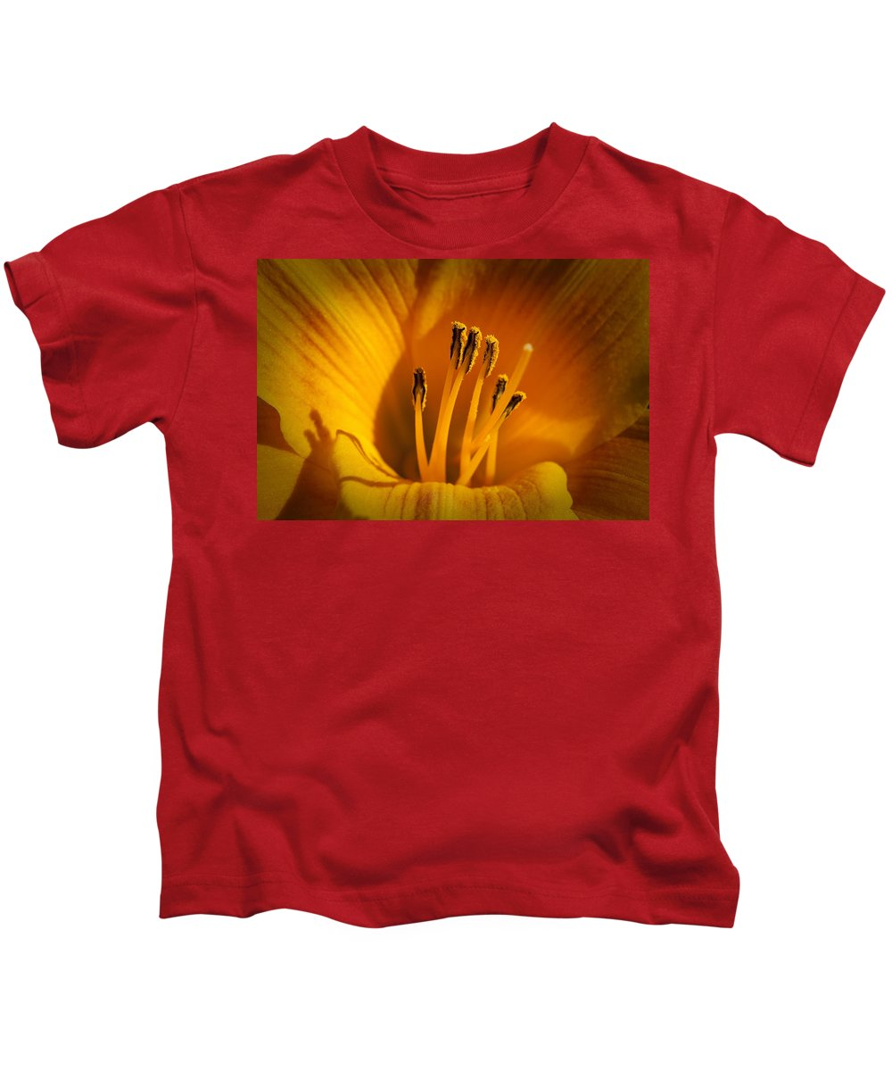 Flowers Kids T-Shirt featuring the photograph Stamens by Kelley King