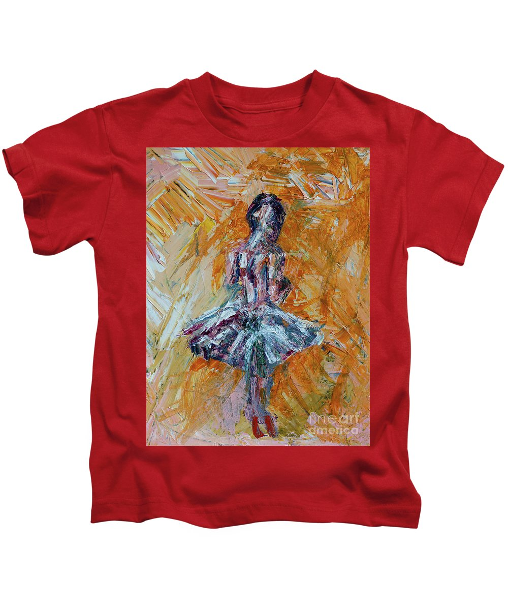 Dance Kids T-Shirt featuring the painting The Dancer by Robert Yaeger