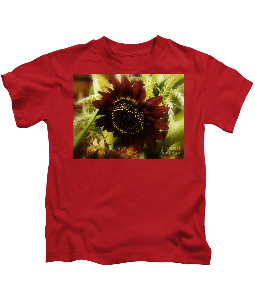 Sunflower Kids T-Shirt featuring the photograph The Softness Of Autumn by RC DeWinter