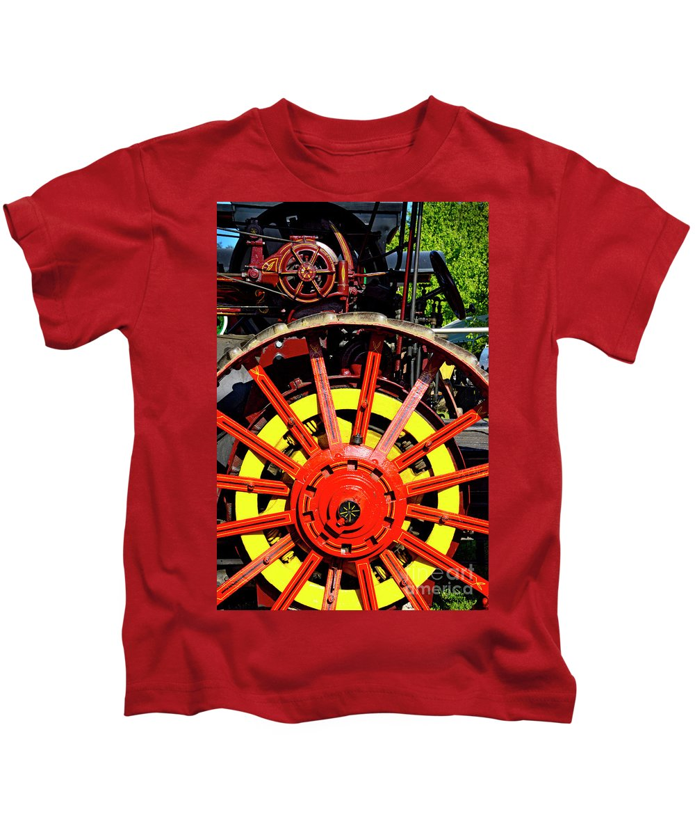 Tractor Kids T-Shirt featuring the photograph Tractor Big Wheel by Paul W Faust - Impressions of Light