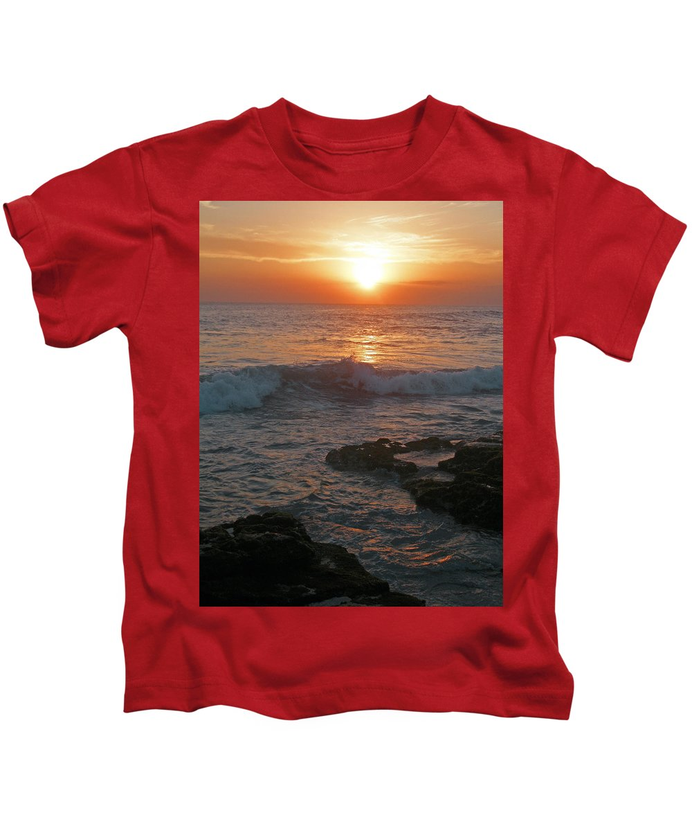 Bali Kids T-Shirt featuring the photograph Tropical Bali Sunset by Mark Sellers