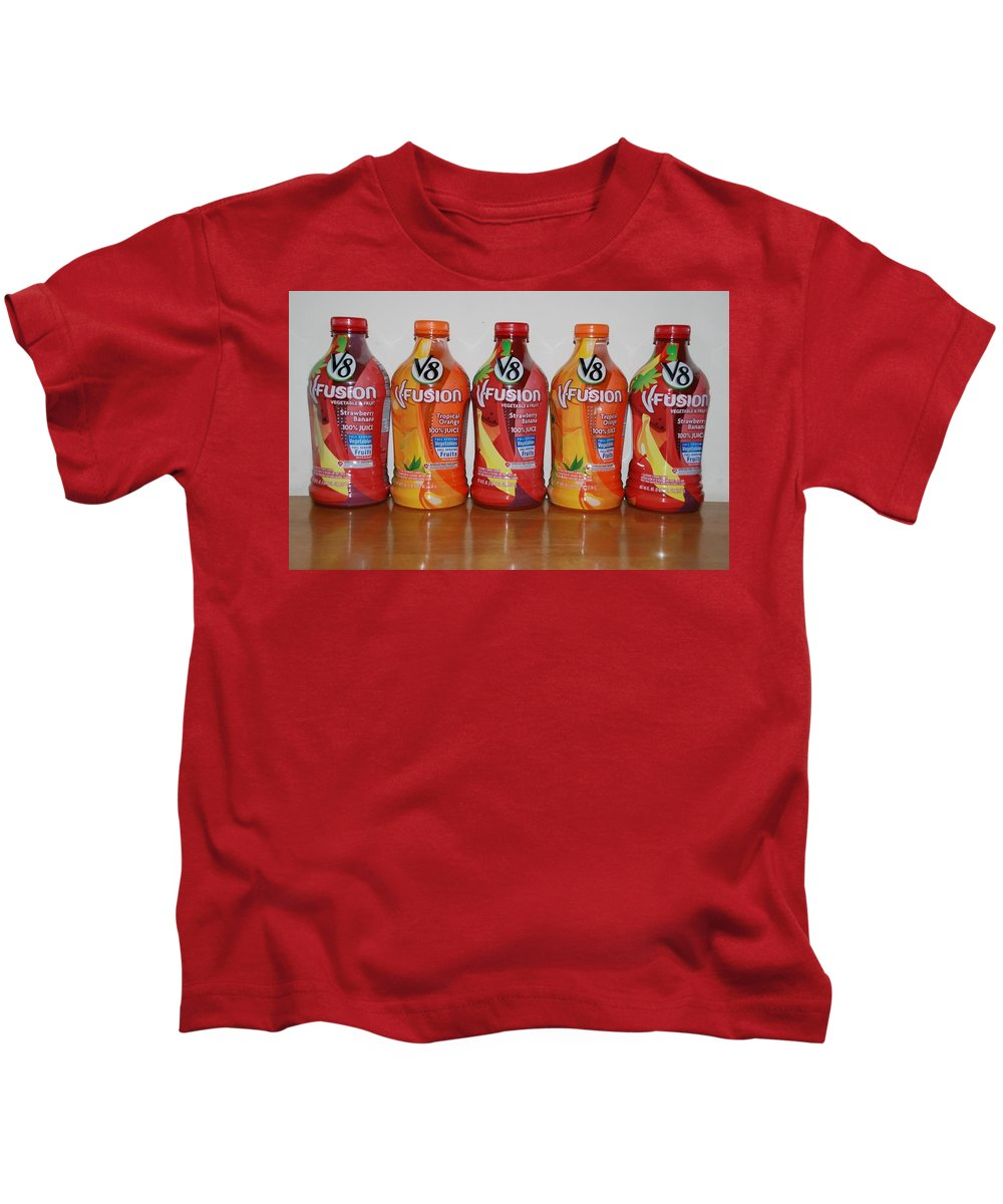 V8 Kids T-Shirt featuring the photograph V8 Fusion by Rob Hans