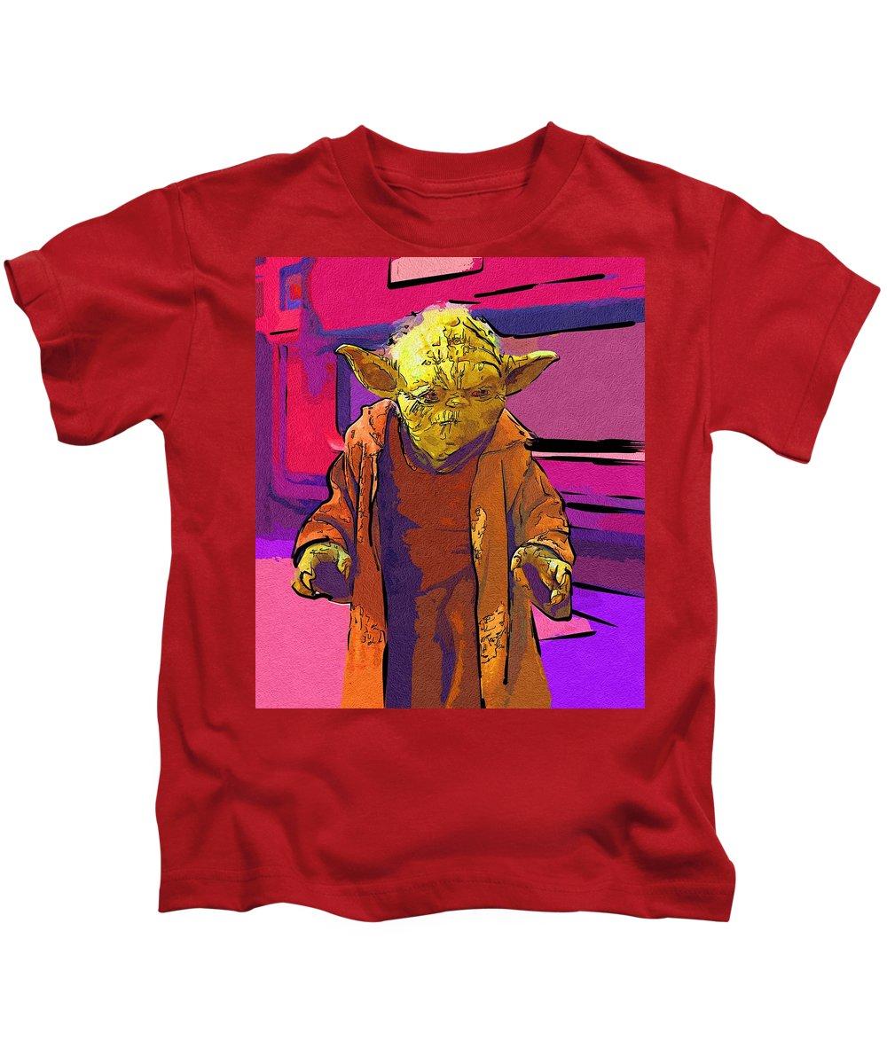 Star Wars Kids T-Shirt featuring the digital art Star Wars Old Poster by Larry Jones