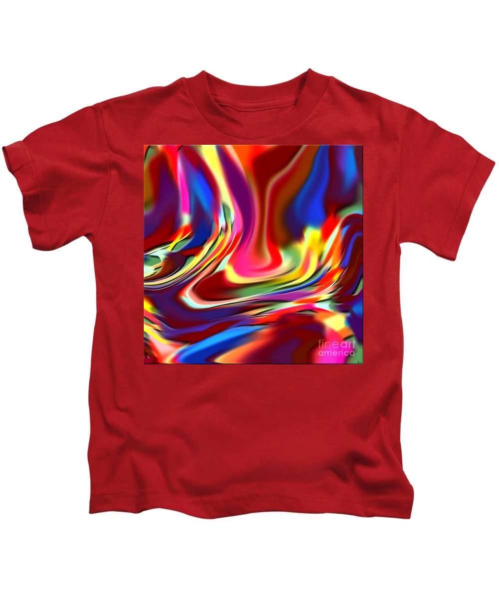 Abstract Kids T-Shirt featuring the digital art 1697 Abstract Thought by Chowdary V Arikatla