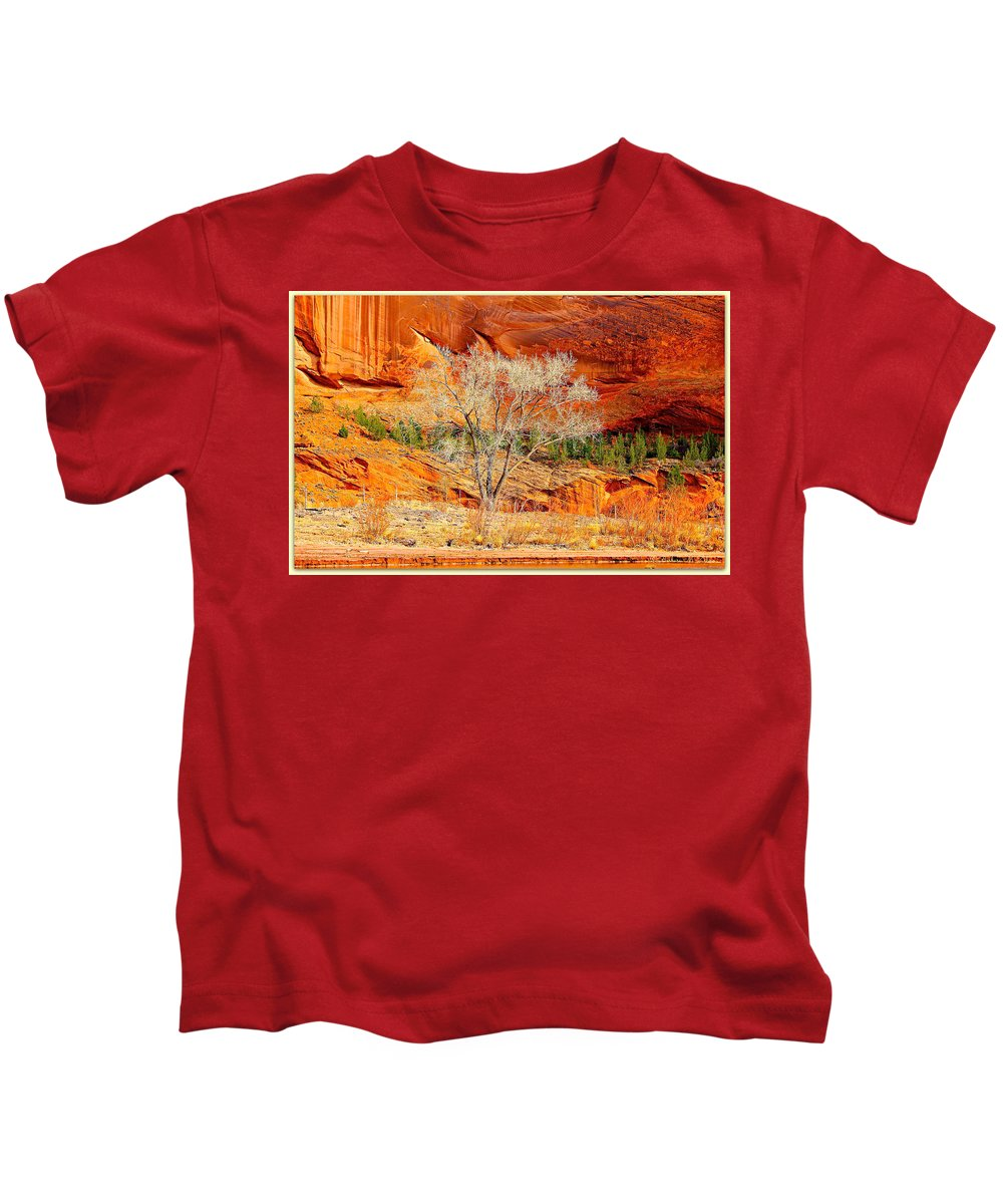 Canyon Kids T-Shirt featuring the photograph Solitude by Barbara Zahno