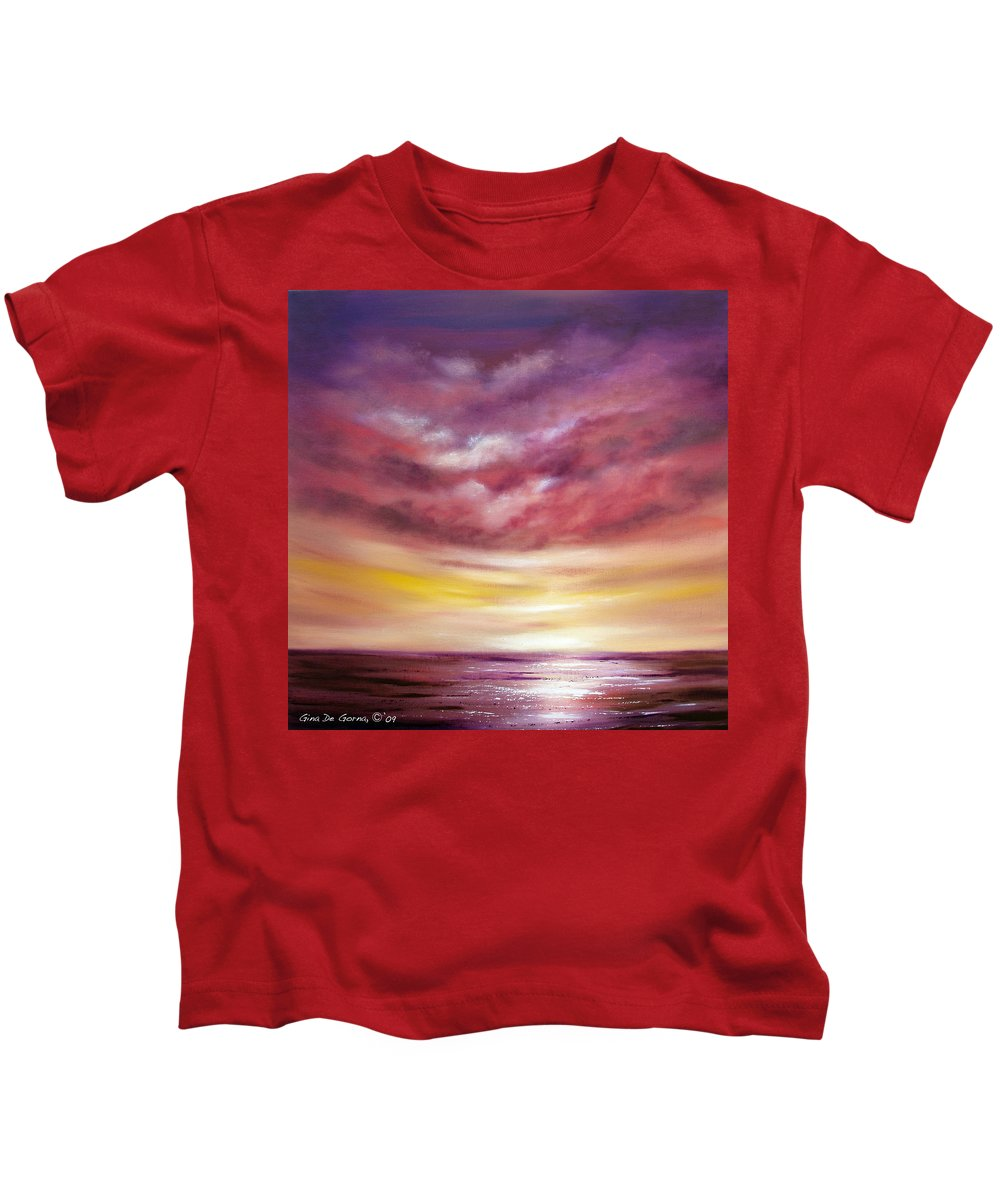 Square Kids T-Shirt featuring the painting Splendid by Gina De Gorna