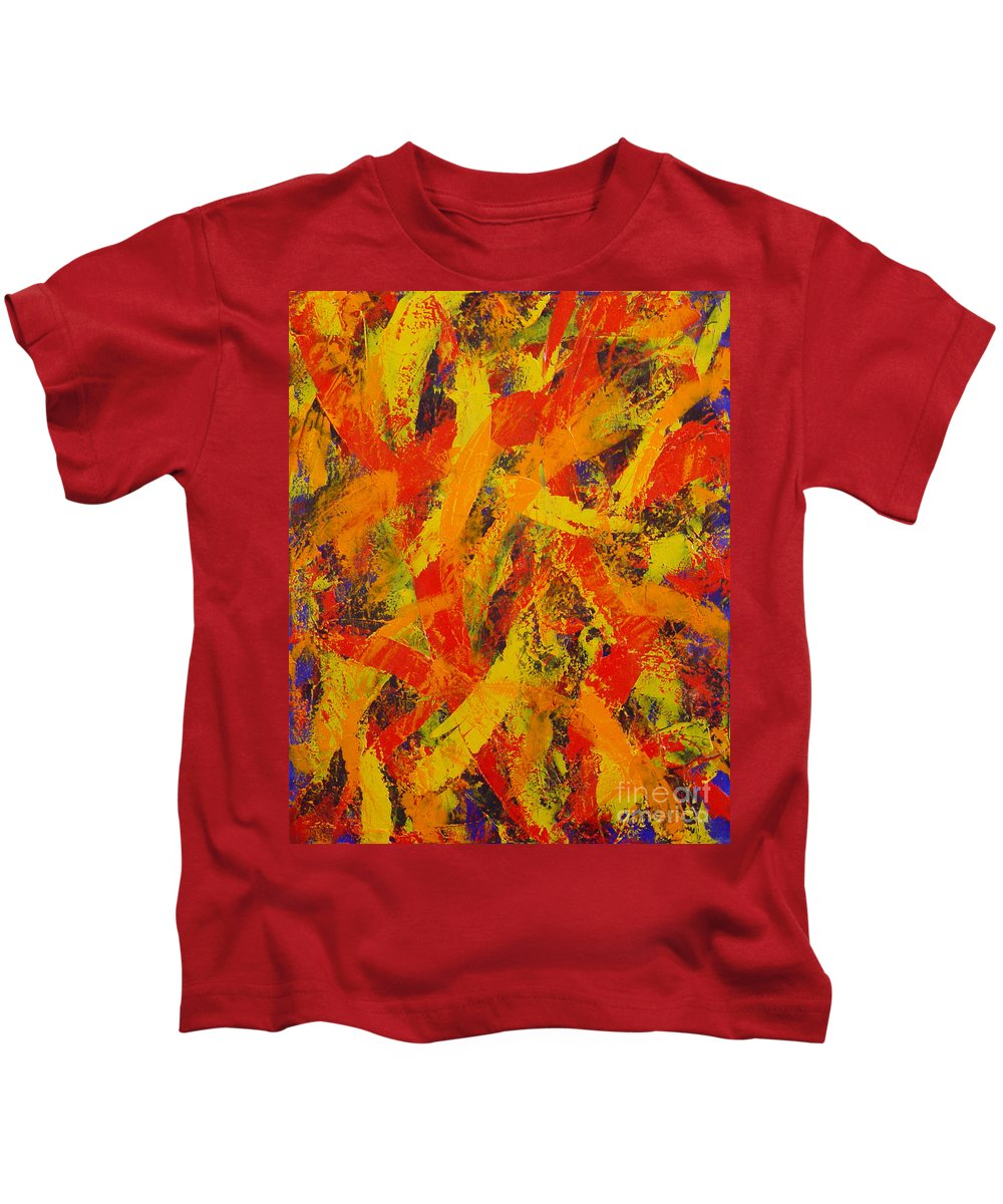 Abstract Kids T-Shirt featuring the painting Untitled by Dean Triolo