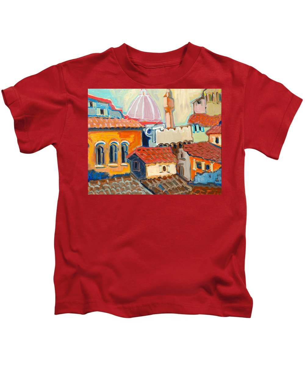 Italy Kids T-Shirt featuring the painting Florence by Kurt Hausmann
