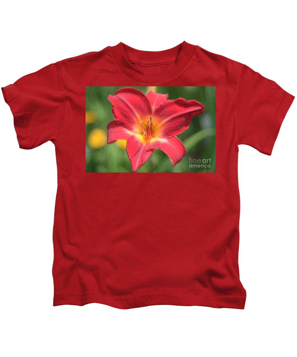 Spring Kids T-Shirt featuring the photograph Tiger Lily by Baltzgar