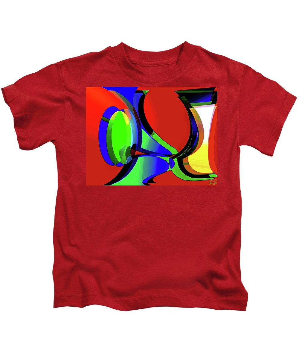 Curious Kids T-Shirt featuring the digital art 3d-curiosity Of Science by Helmut Rottler