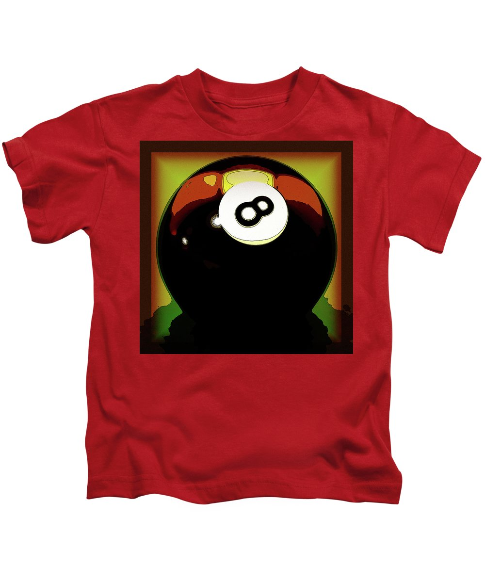 Eight Ball Kids T-Shirt featuring the digital art 8 Ball by David G Paul
