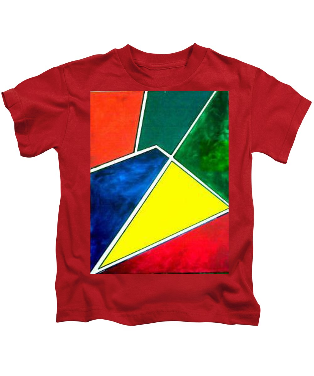 Primary And Sondary Colors Kids T-Shirt featuring the painting 99870 Colors by Andrew Johnson