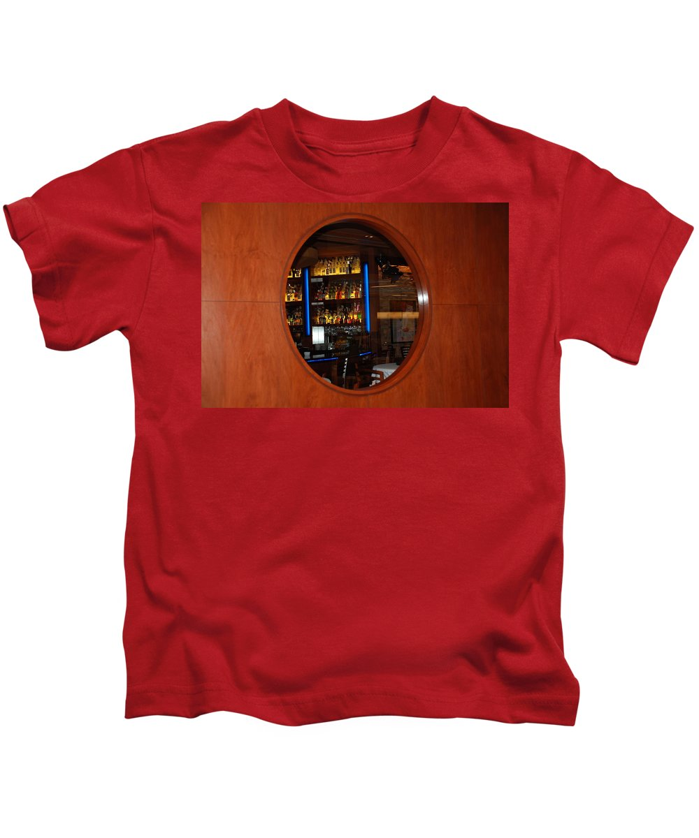 Architecture Kids T-Shirt featuring the photograph A Look Thru The Fishbowl by Rob Hans