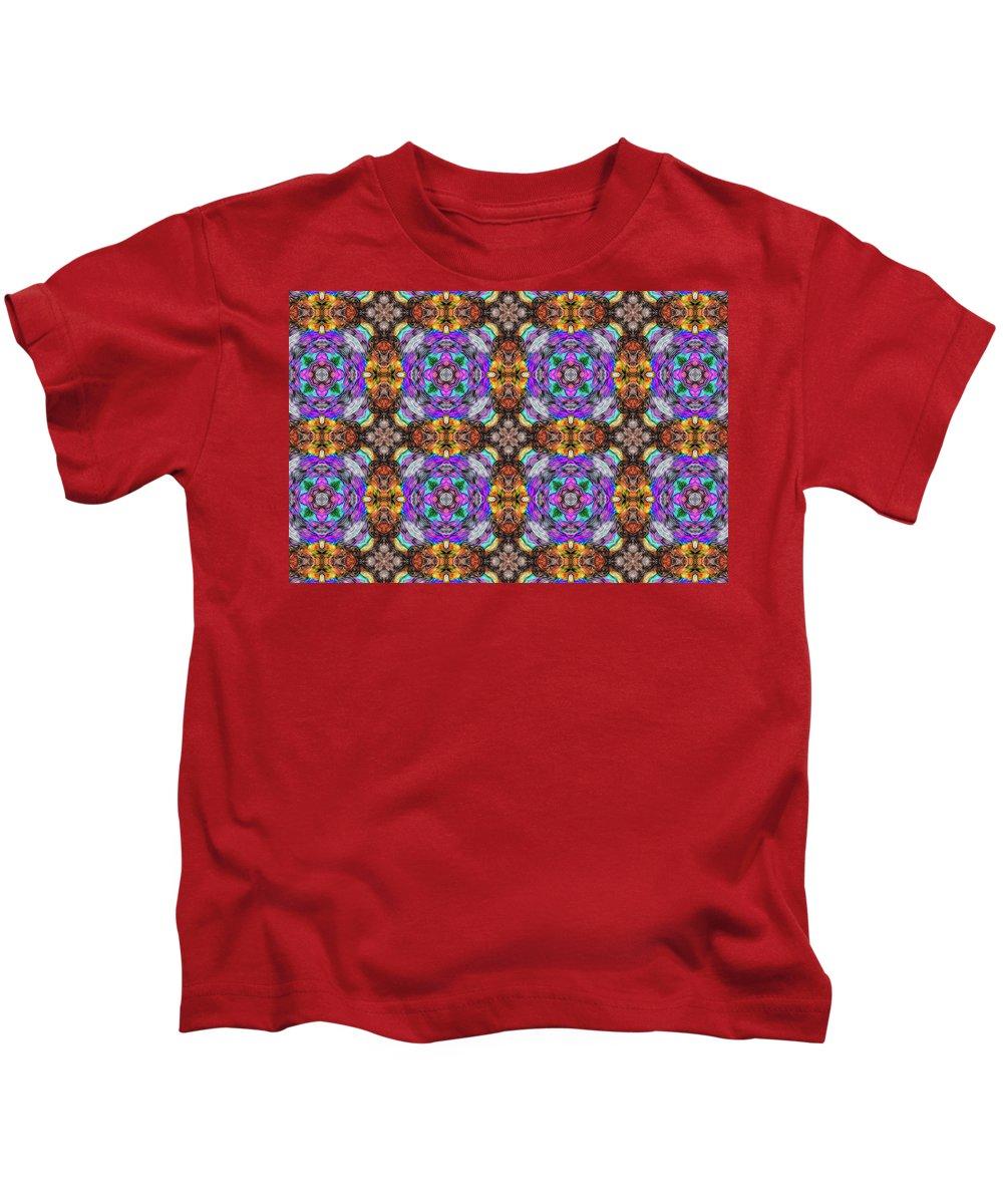 Marjan Mencin Kids T-Shirt featuring the digital art Arabesque 100 by Marjan Mencin