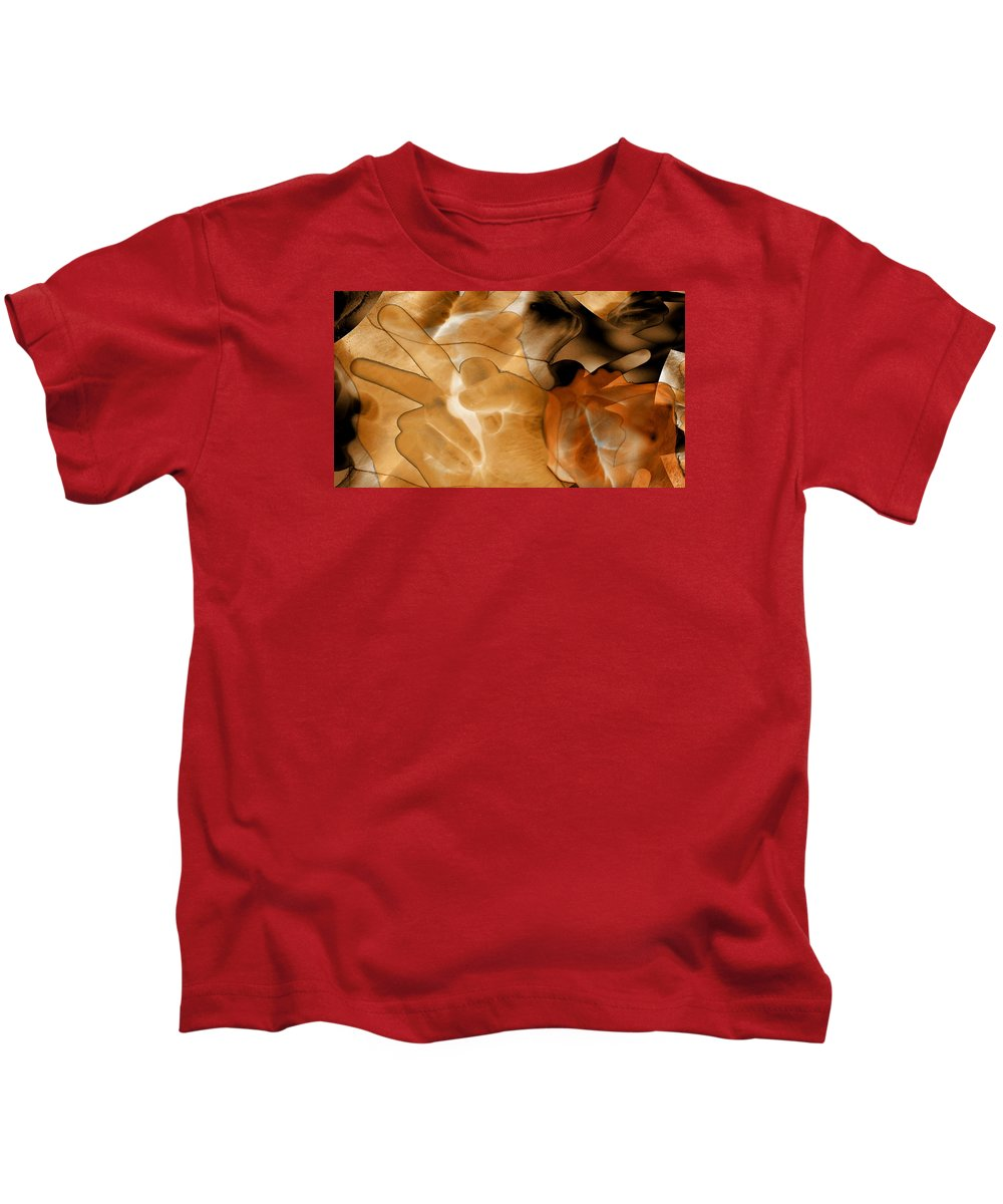 Abstract Photo Collage Kids T-Shirt featuring the digital art A Message To Authoritarians by Abstract Angel Artist Stephen K