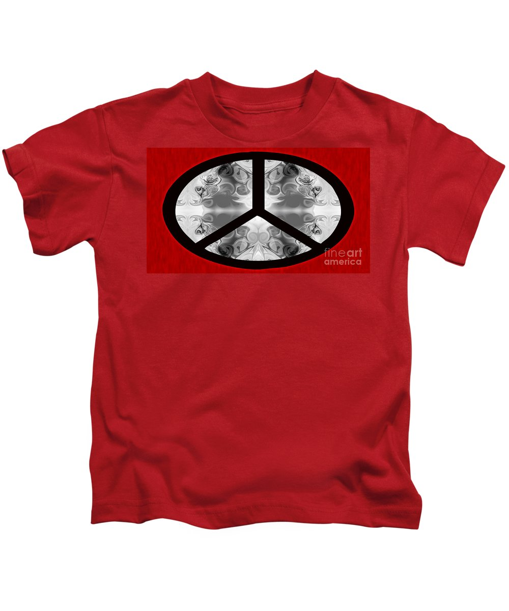 A Peace Of Life Kids T-Shirt featuring the digital art A Peace Of Life by Omaste Witkowski