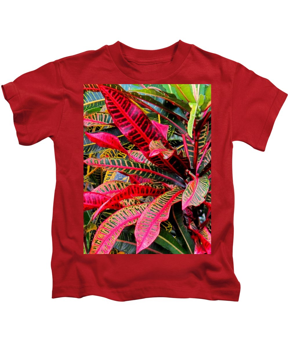 Red Kids T-Shirt featuring the photograph A Rich Composition by Ian MacDonald