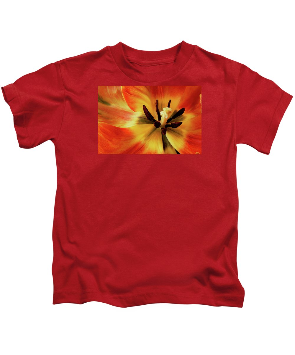 Tulip Kids T-Shirt featuring the photograph A Song From The Heart by Bill Morgenstern