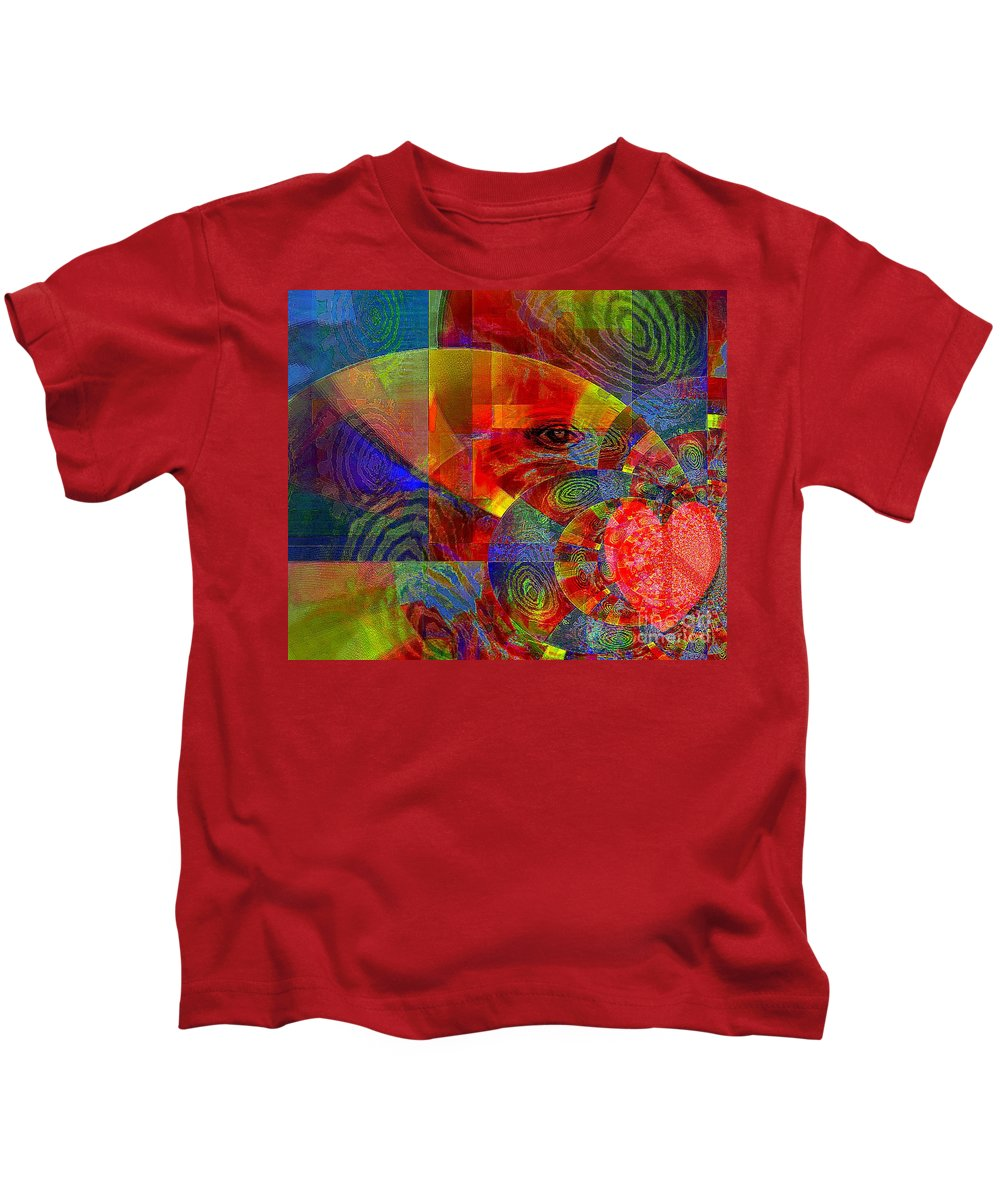 Fania Simon Kids T-Shirt featuring the mixed media A Special Kind Of Love by Fania Simon