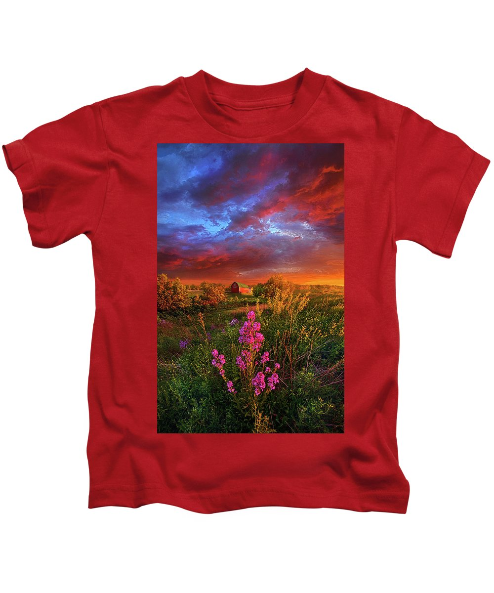 Spring Kids T-Shirt featuring the photograph A Wisconsin Story by Phil Koch
