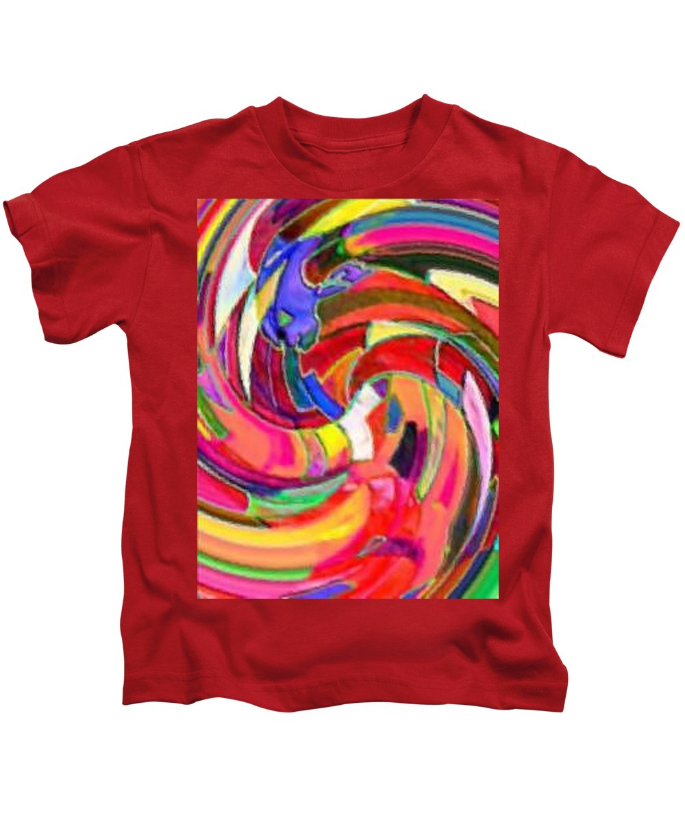 Digital Image Kids T-Shirt featuring the digital art AB by Andrew Johnson