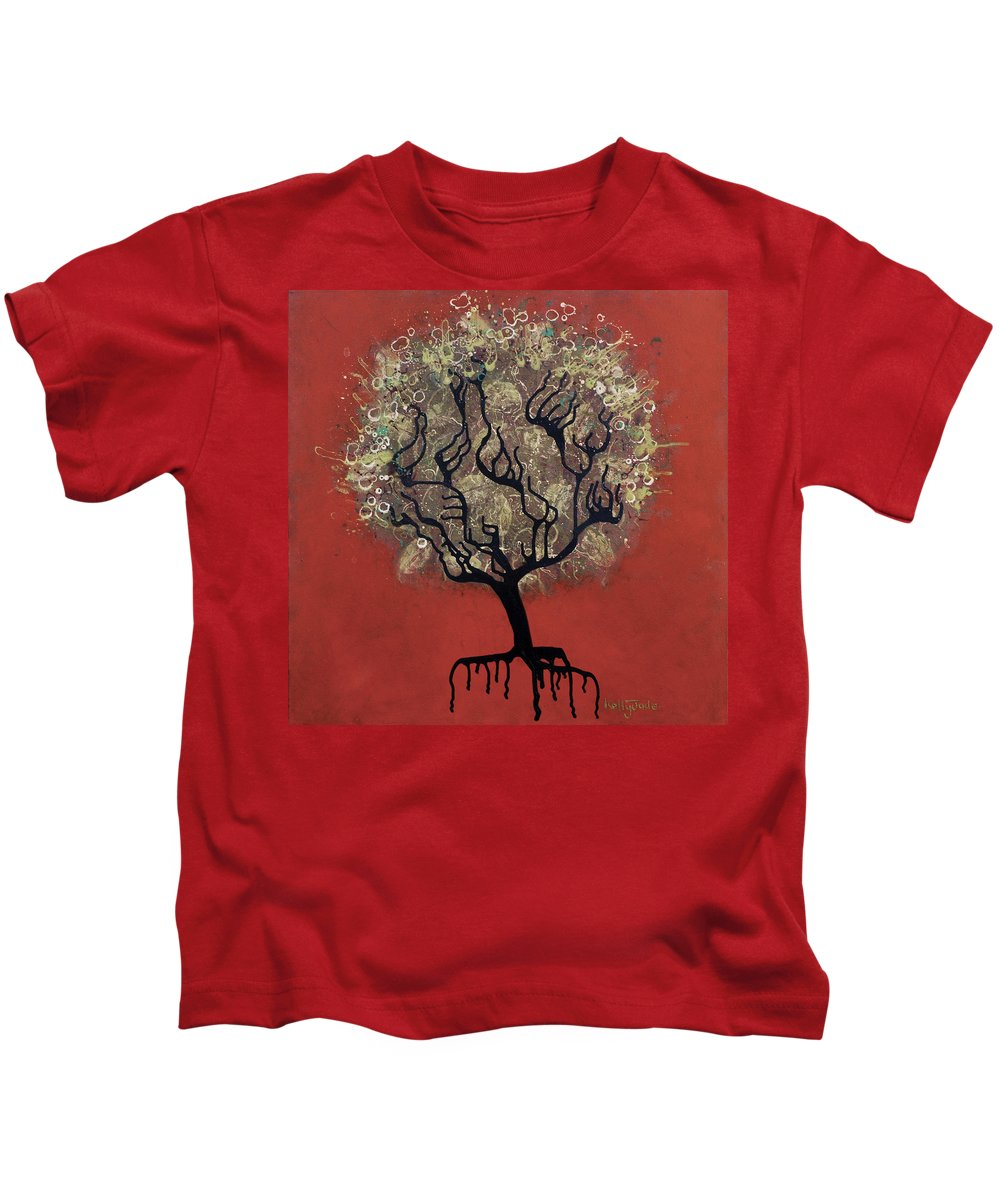 Tree Kids T-Shirt featuring the painting Abc Tree by Kelly Jade King