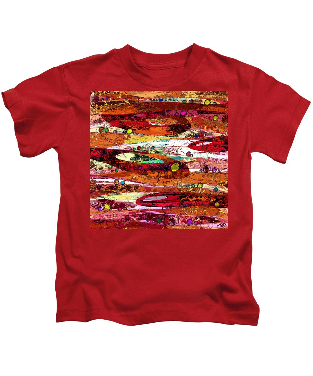 Abstract Kids T-Shirt featuring the digital art Abiding by Rachel Christine Nowicki