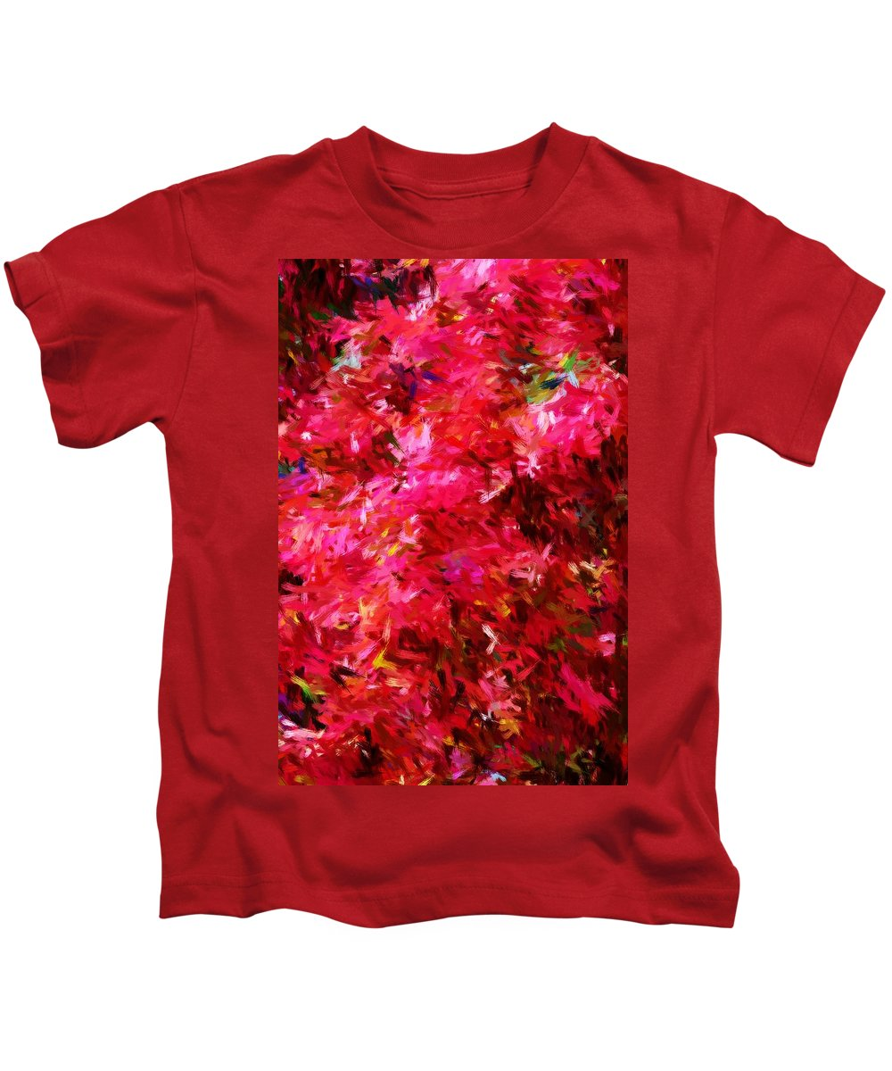Digital Painting Kids T-Shirt featuring the digital art Abstract 052310 by David Lane