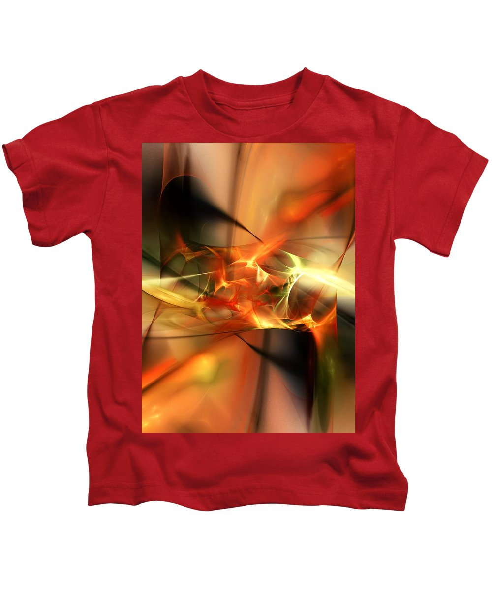 Digital Painting Kids T-Shirt featuring the digital art Abstract 060110a by David Lane