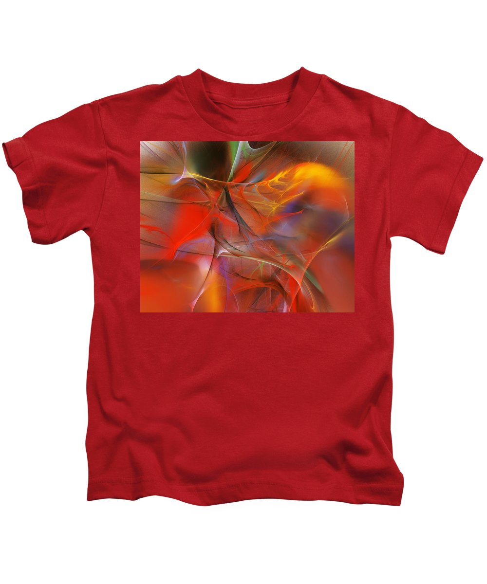 Abstract Kids T-Shirt featuring the digital art Abstract 062910a by David Lane