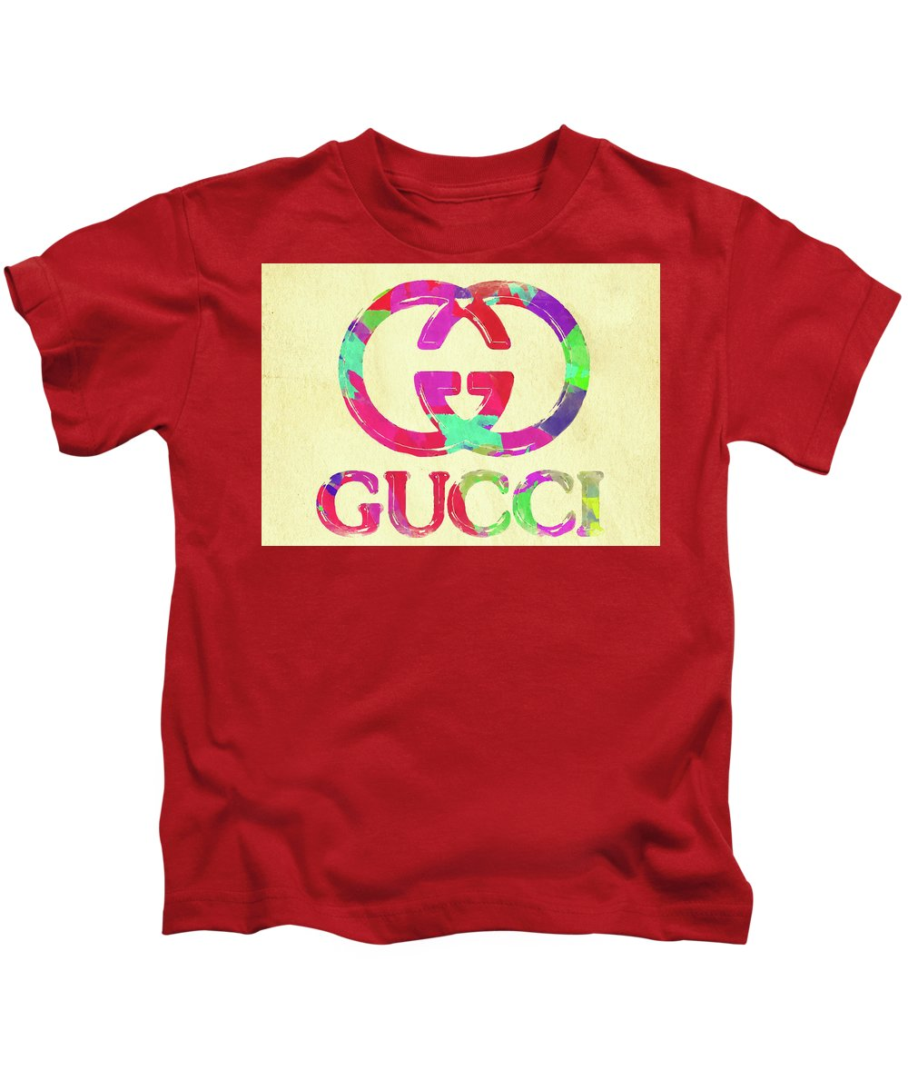 de2547af5 Gucci Kids T-Shirt featuring the photograph Abstract Gucci Logo Watercolor  II by Ricky Barnard