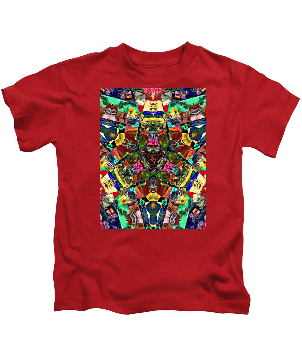 Mandala Kids T-Shirt featuring the digital art Abstract Of Abundant Colors by Phil Perkins