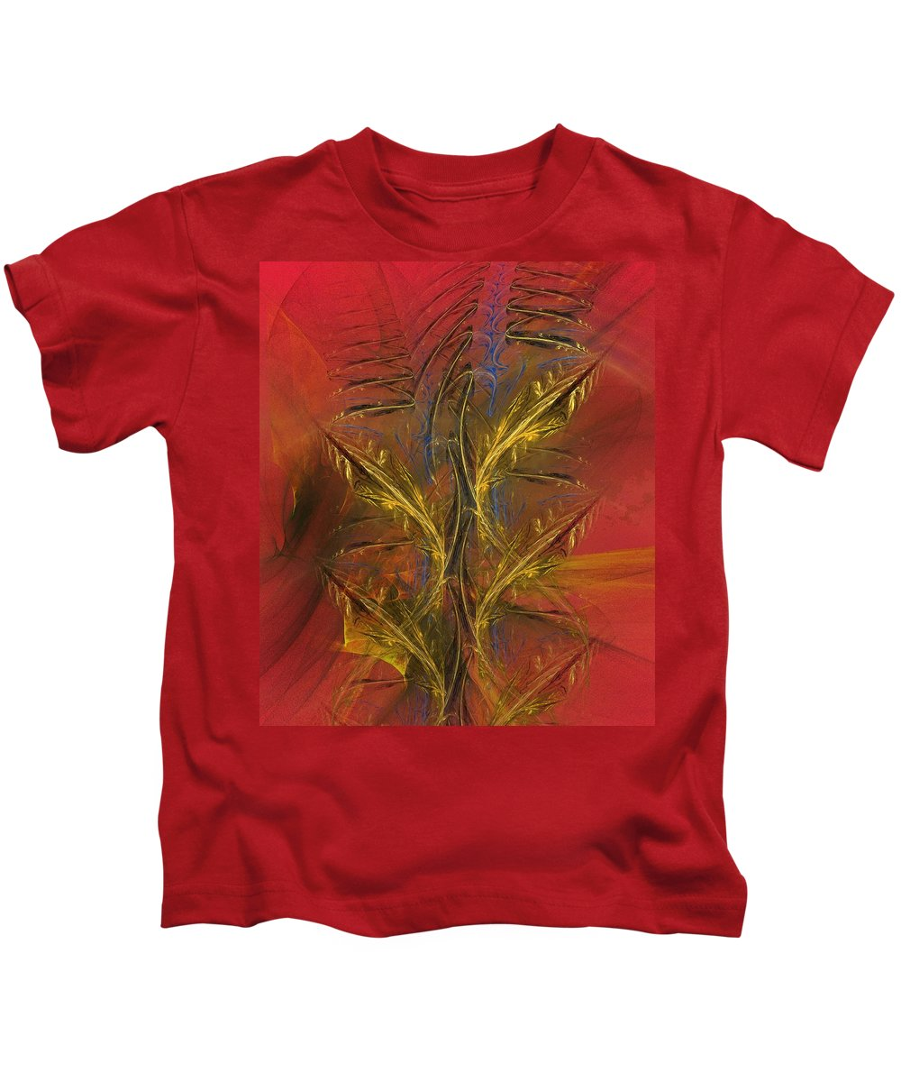 Fine Art Kids T-Shirt featuring the digital art Abstraction 072011 by David Lane