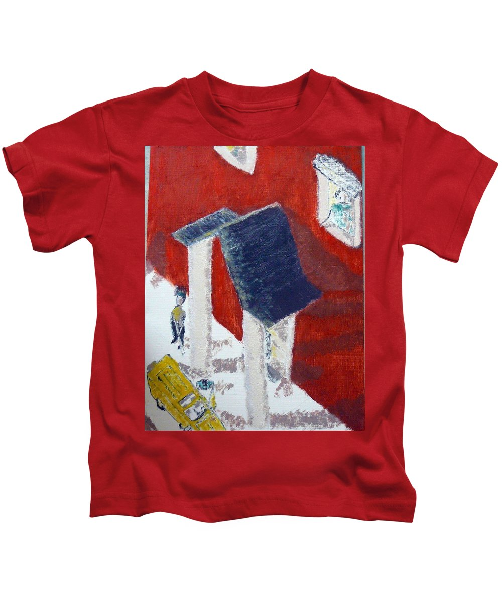 Social Realiism Kids T-Shirt featuring the painting Accessories by R B