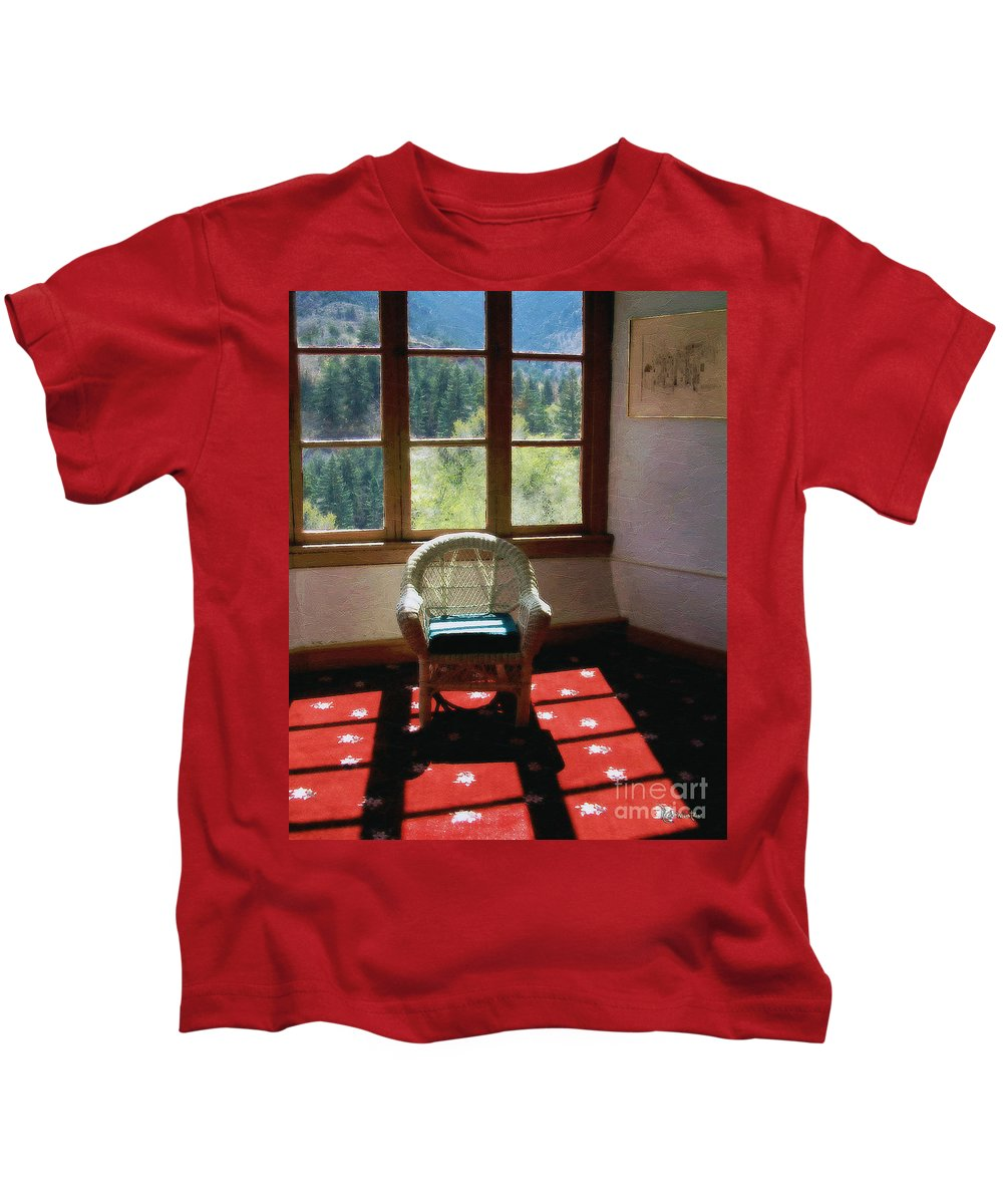 Antiques Kids T-Shirt featuring the painting Afternoon In The Solarium by RC DeWinter