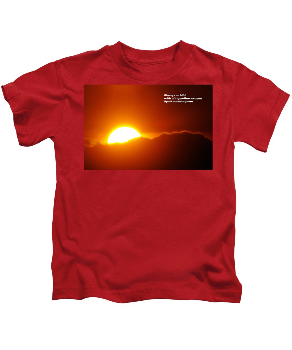 Sunset Kids T-Shirt featuring the photograph Always A Child by Jeff Swan