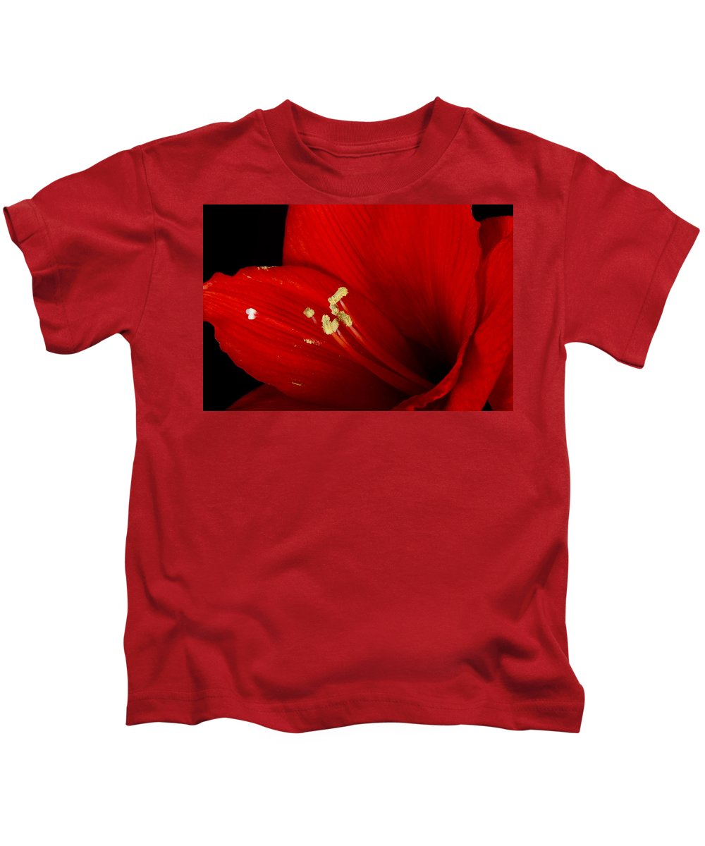 Amaryllis Kids T-Shirt featuring the photograph Amaryllis Pollen by James BO Insogna
