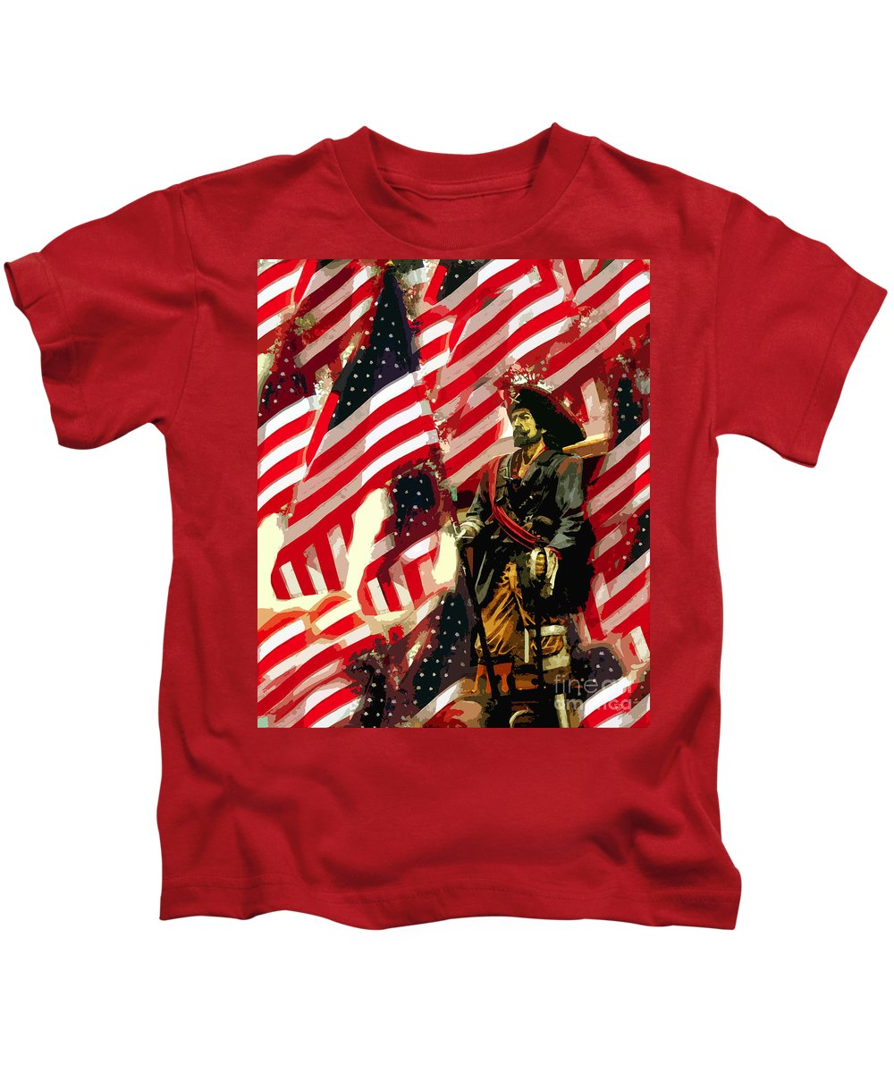 Pirate Kids T-Shirt featuring the painting American Pirate by David Lee Thompson