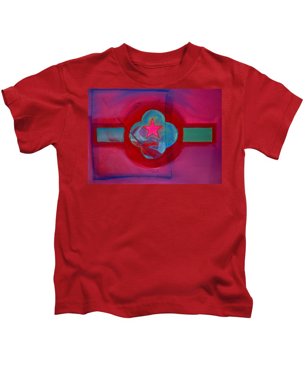 Star Kids T-Shirt featuring the painting American Spiritual Decal by Charles Stuart