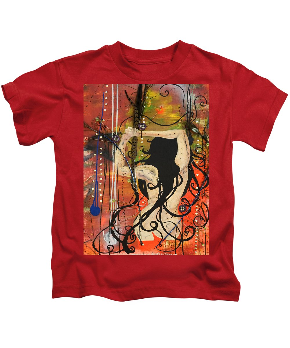Woman Kids T-Shirt featuring the painting American Witch by Sheridan Furrer