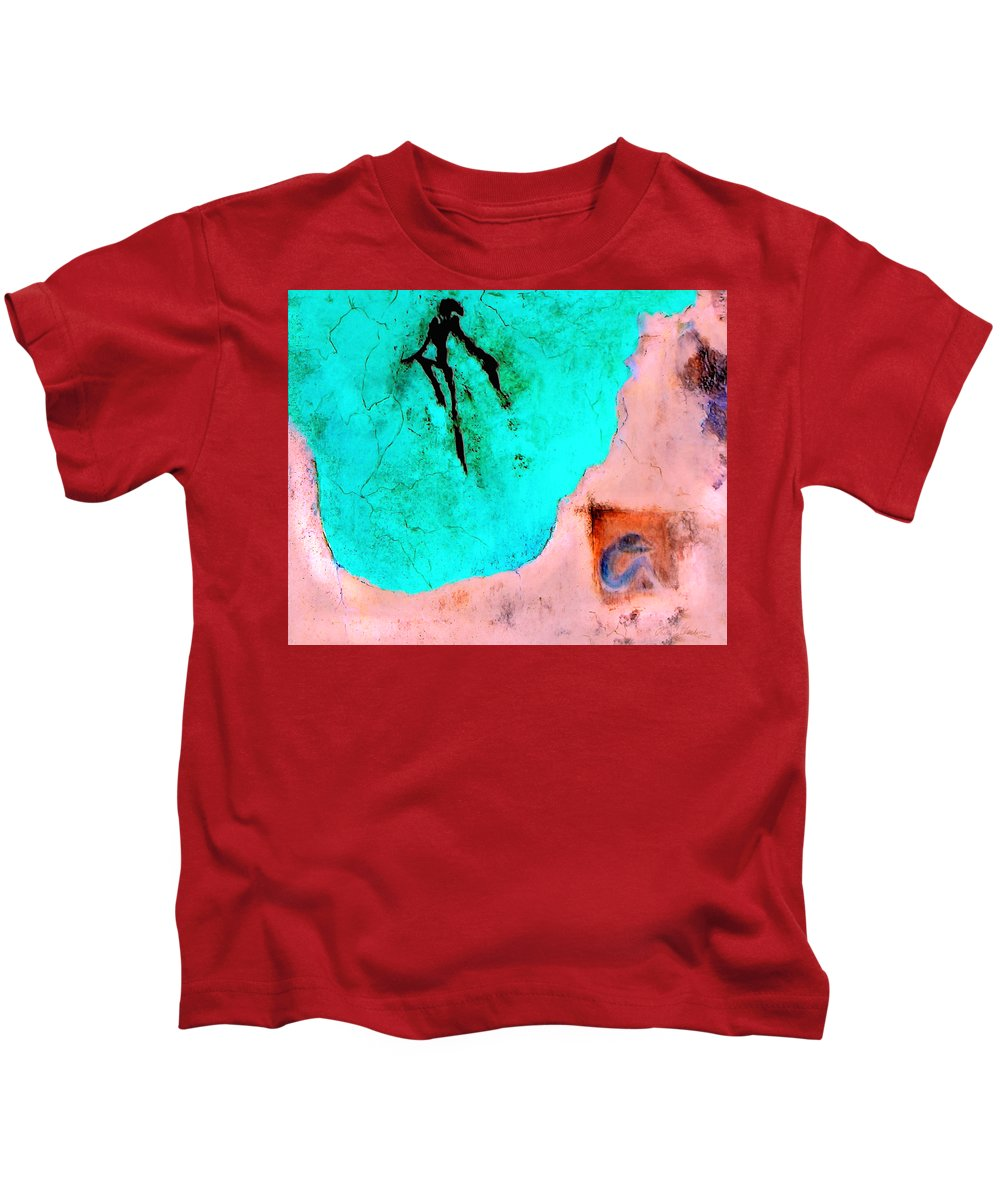 Spirit Afterlife Innerself Soul Fly Kids T-Shirt featuring the painting And The Spirit Moved by Veronica Jackson