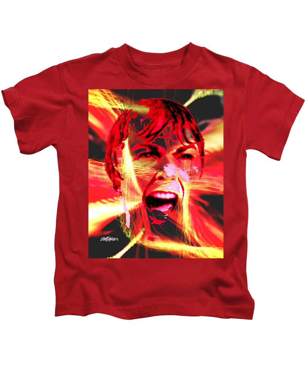 Anger Kids T-Shirt featuring the digital art Anger Management by Seth Weaver