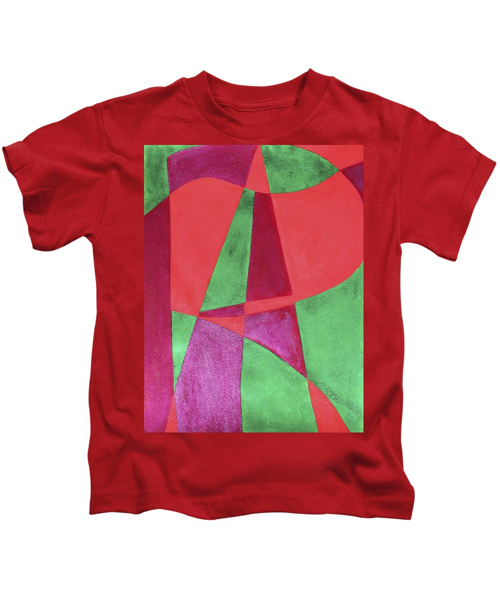 Abstract Kids T-Shirt featuring the painting Art Painted In Abstract by Lee Serenethos